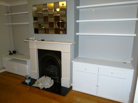 Richmond-KT2-TW10 Fitted Alcove Media Cabinets