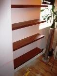 Hand made study shelves